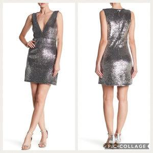 Bardot Silver Sequin Dress